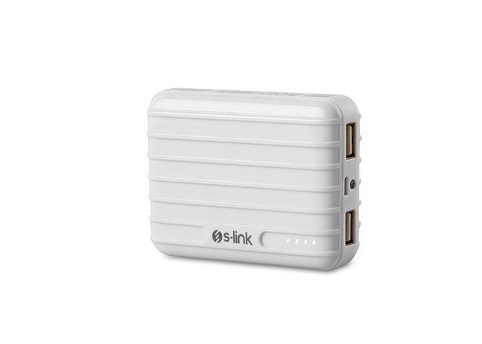 S-link Swapp IP-T58 7800mAh 1A/2.1A 2*Usb Beyaz Taşınabilir Pil Şarj Cihazı