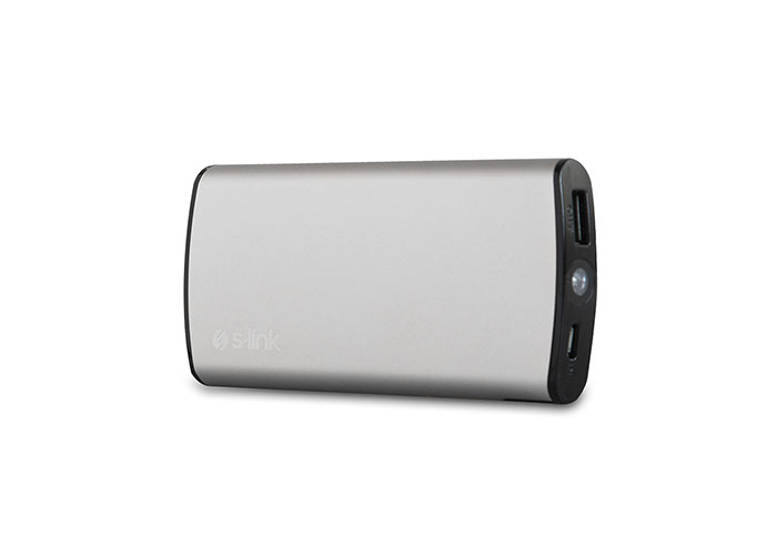S-link Swapp IP-T80 8000mAh Silver Portable Powerbank/ Power Pack