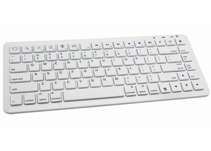 Everest KB-BT230 Beyaz Bluetooth iPad/iPhone/Mac Mini Q Multimedia Stand ve Kablosuz Klavye