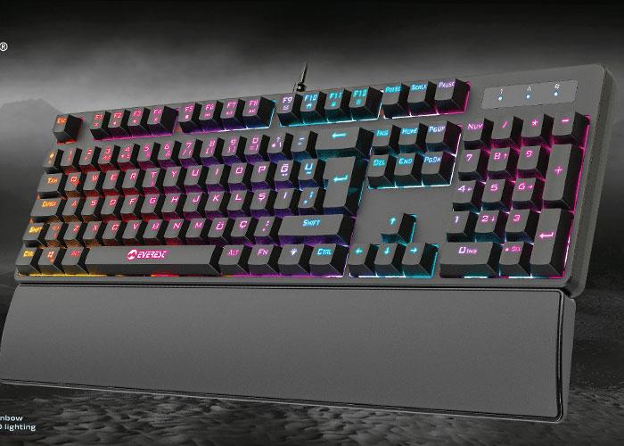 Everest KB-GX8 REDCORE USB 9 Renk Led Aydınlatmalı Red Switch Mekanik Gaming Oyuncu Klavyesi