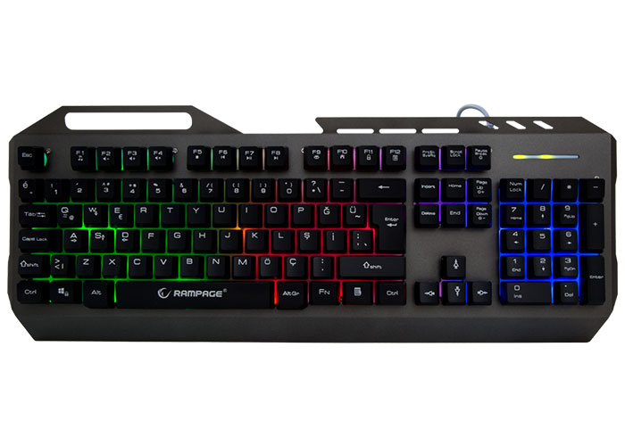 Rampage KB-R73 Gray / Black USB Backlit Metal Case Q Gaming Keyboard