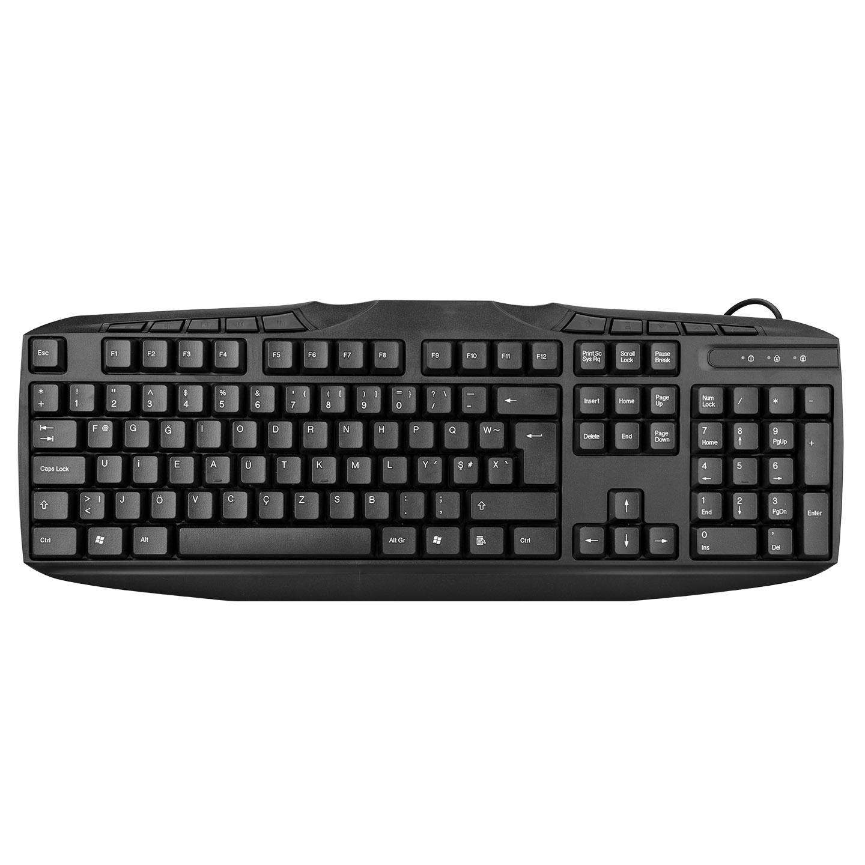 Everest KB-250F Siyah USB Tamamen Türkçe F Multimedia Klavye