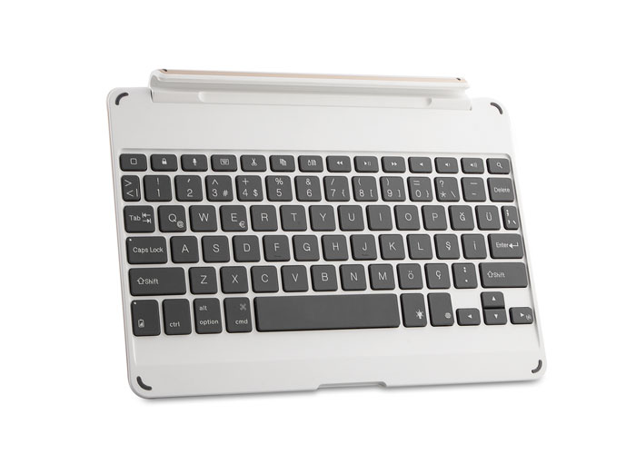 Everest KB-BT12 Gri Bluetooth iPad Air Işıklı Delux Multimedia Kablosuz Stand/Klavye