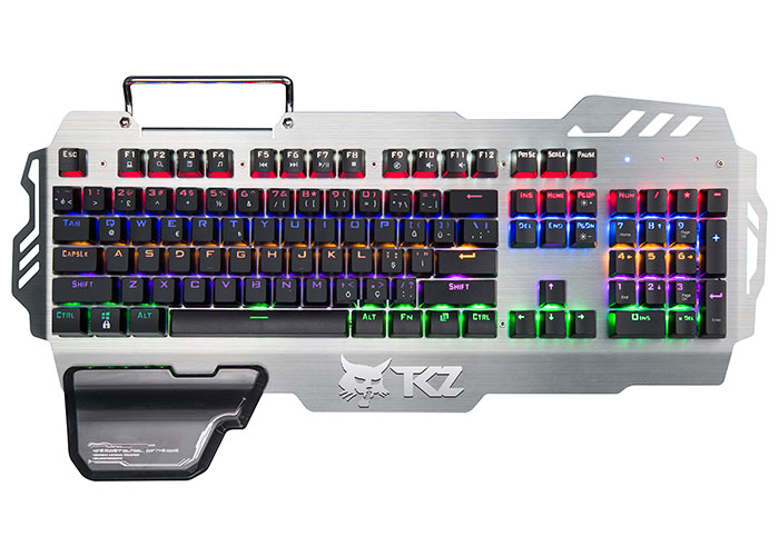 Rampage KB-R44 TKZ Rainbow Backlight Q Aluminyum Kaplama Mavi Switch Gaming Oyuncu Klavyesi