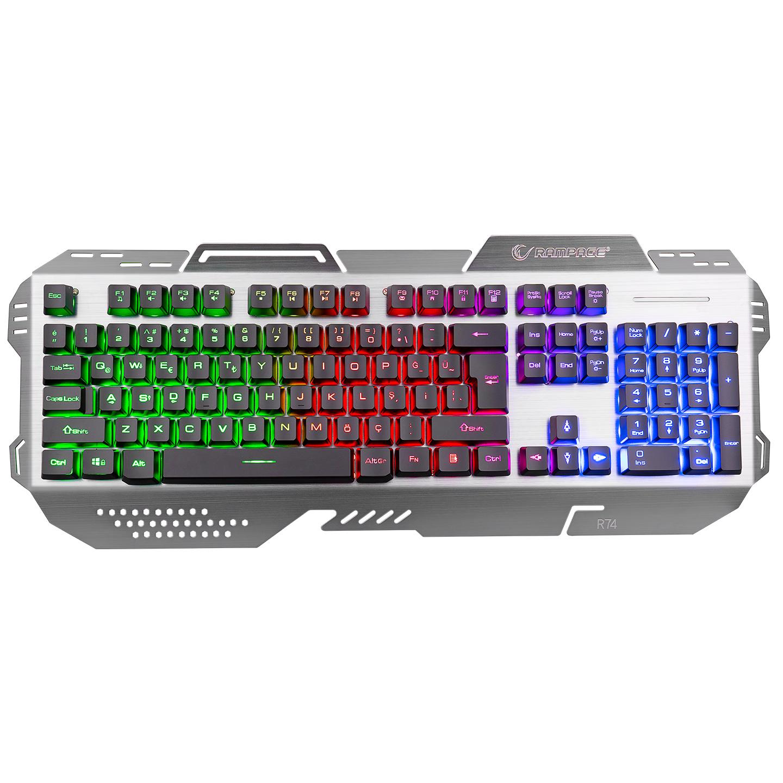 Rampage KB-R74 Gökkuşağı Aydınlatmalı USB Gaming Q Multimedia Klavye