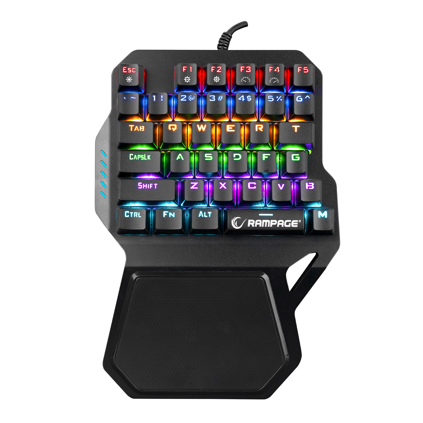 Rampage KB-R77 PALM USB Rainbow Backlight Outemu Red Switch Mekanik 36 Tuşlu Mini Gaming Oyuncu Klavyesi
