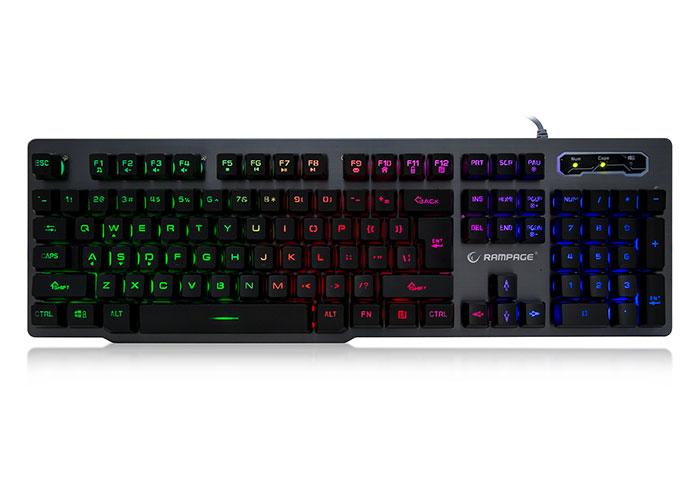 Everest Rampage KB-R78 Gri/Siyah USB Aydınlatmalı Metal Kasa US Layout Gaming Klavye