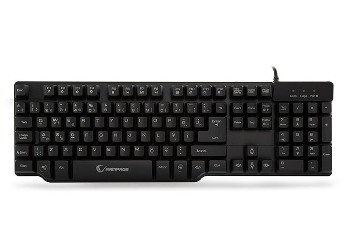 Everest Rampage KB-R8 Black USB 3 Different Lightning Games Q Mechanical Shock Keyboard