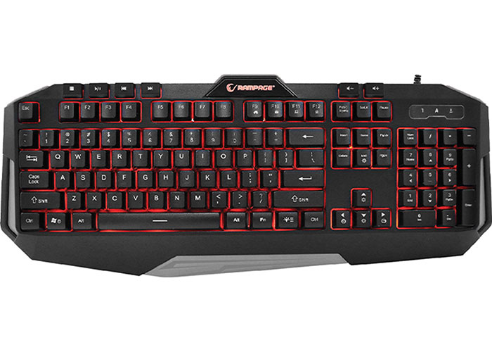 Rampage KB-RX7 ALPOR Gray USB 3 Color Backlit US Layout Gaming Keyboard