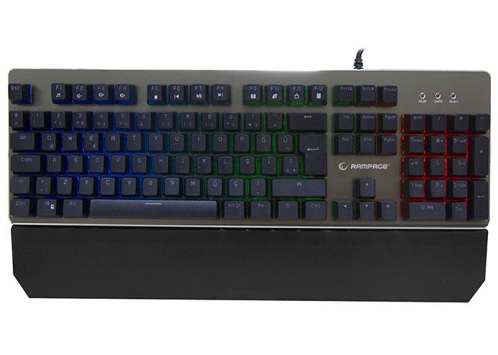 Rampage MITHRIL PRO KB-RX8 Semi Mekanik Rainbow Ledli Q Metal Yüzey Gaming Klavye
