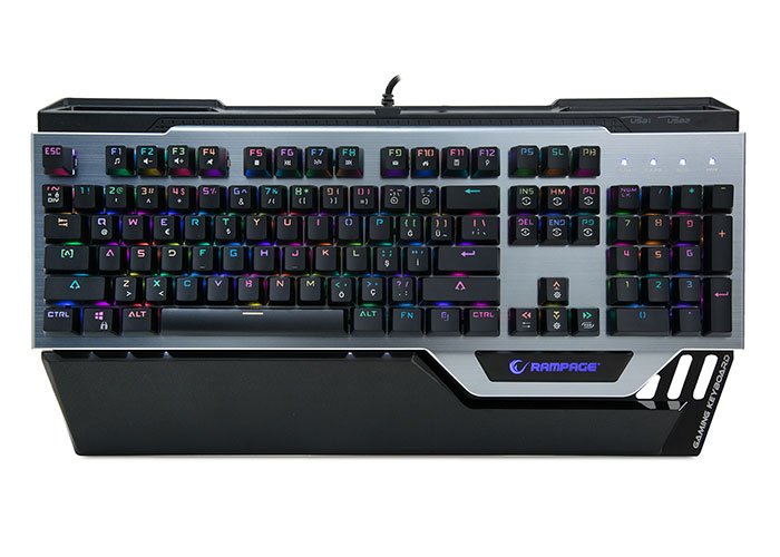 Everest Rampage KB-RX92 COMMANDER Full RGB Ledli USB 2*Usb Hub Gaming Q Multimedia Aluminyum Mekanik Klavye
