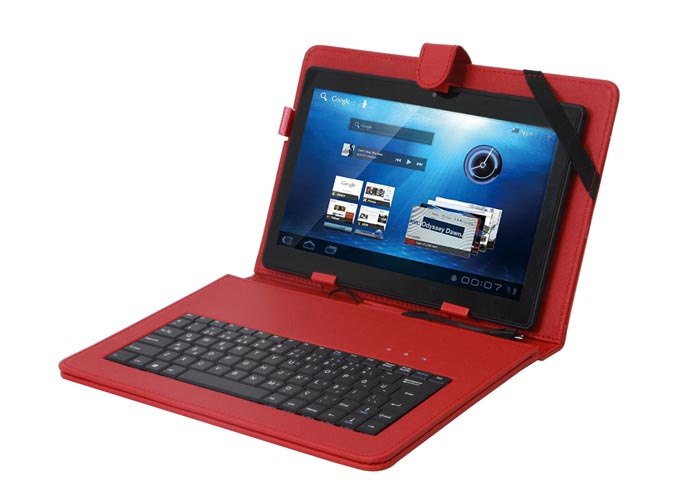 Everest KB-TAB07 Red 7 Mini Usb English Q Keyboard + Tablet Pc Case Cover