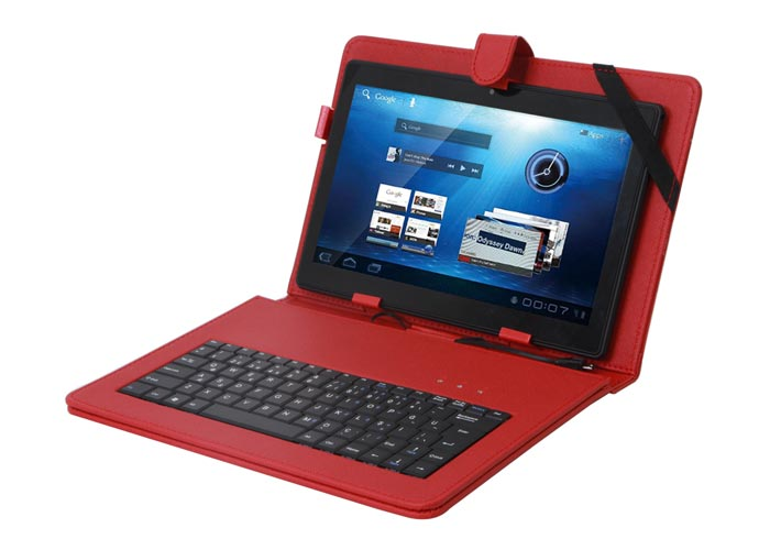 Everest KB-TAB10 10 Red Micro + Mini Usb English Q Keyboard Tablet Pc Case Cover