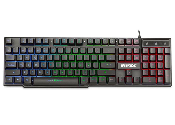 Everest KB-X88 Siyah USB Gökkuşağı Aydınlatmalı Q Oyuncu Klavyesi