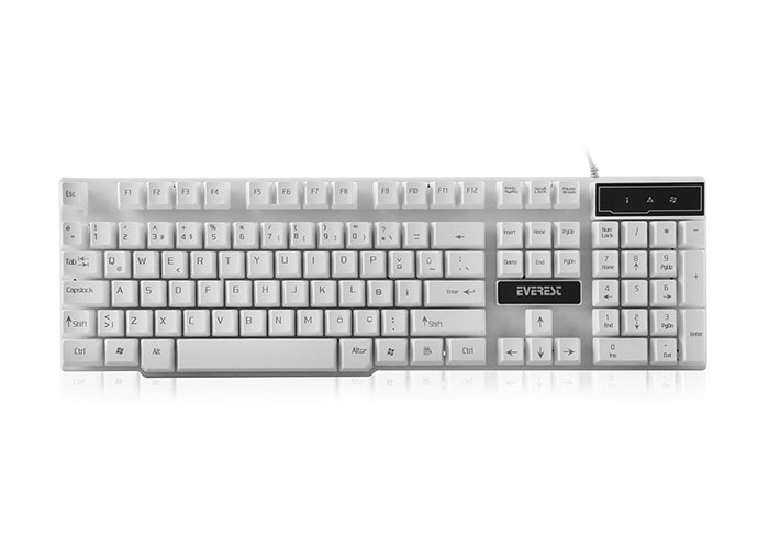 Everest KB-X8 White USB Gaming Q Keyboard