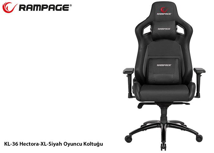 Rampage KL-R36 Hectora-XL Siyah Oyuncu Koltuğu