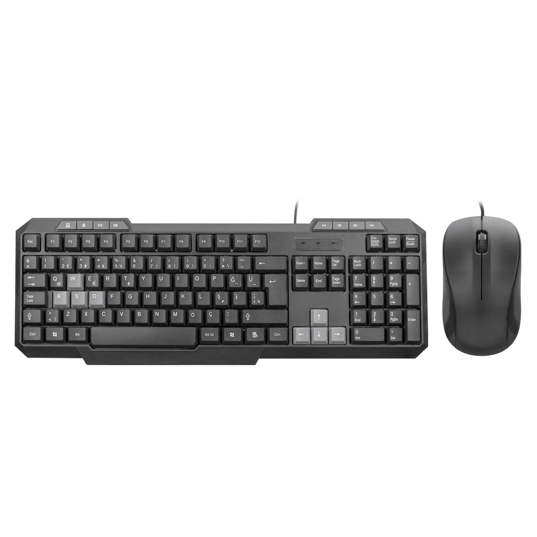 Everest KM-1435 Siyah Usb Oyuncu Q Multimedia Klavye + Mouse Set