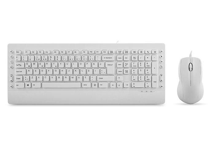 Everest KM-3850 White Q Multimedia Keyboard + Mouse Set