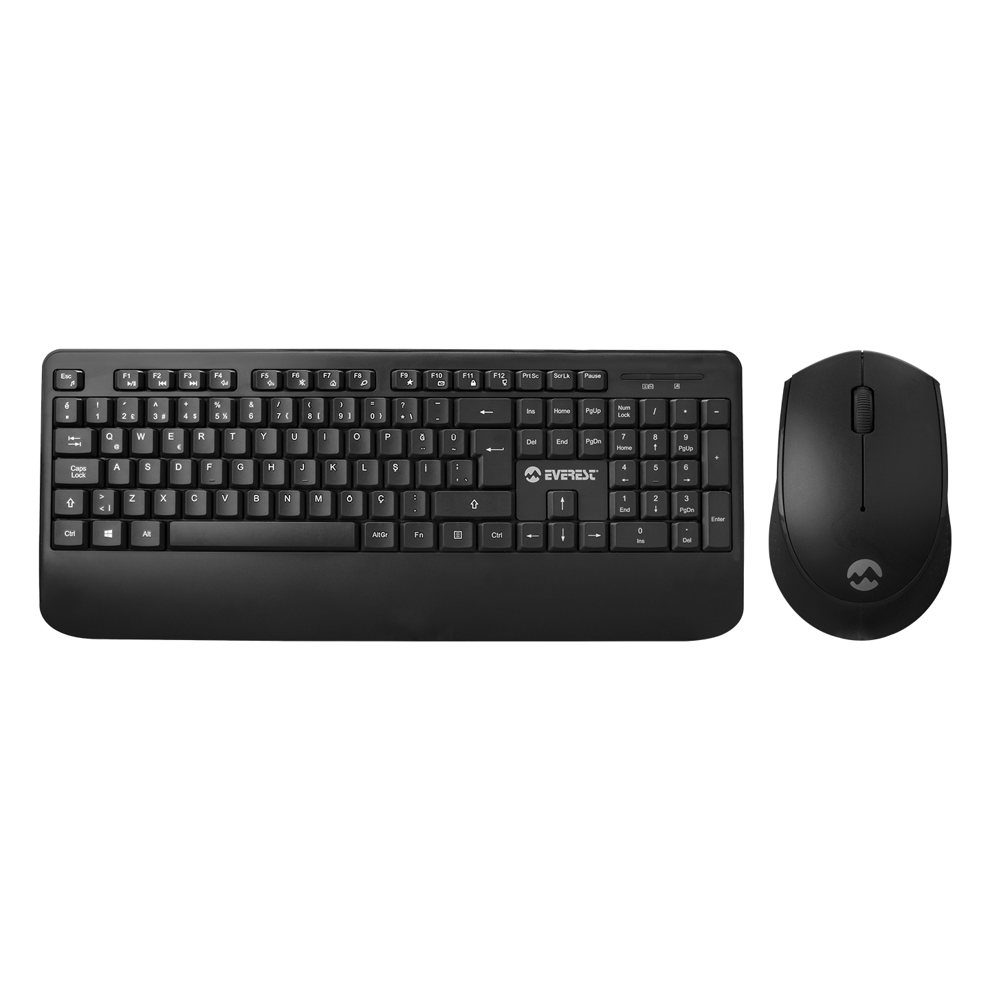 Everest KM-6176 OFFICAL Siyah Kablosuz Combo Q Multimedia Klavye + Mouse Set