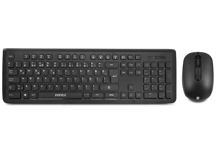 Everest PRESTY KM-62 Siyah Kablosuz Q Multimedia Klavye + Mouse Set