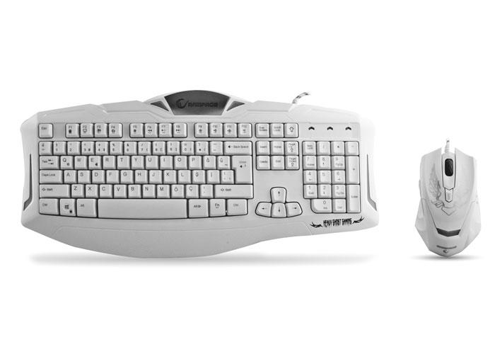 Rampage KM-R5 Beyaz Usb 3 Farklı Ledli Gaming Q Multimedia Klavye + Mouse Set