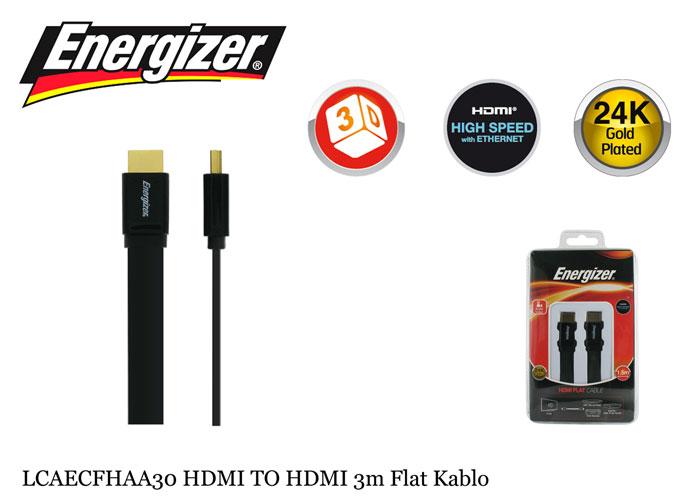 Energizer LCAECFHAA30 HDMI TO HDMI 3m Flat Kablo