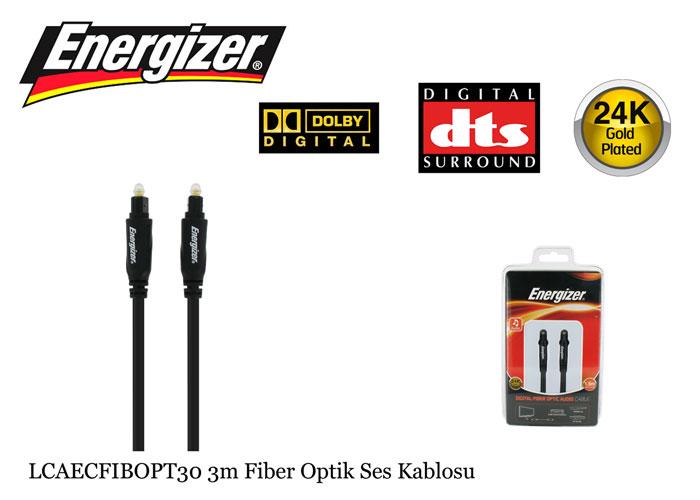 Energizer LCAECFIBOPT30 3m Fiber Optik Ses Kablosu