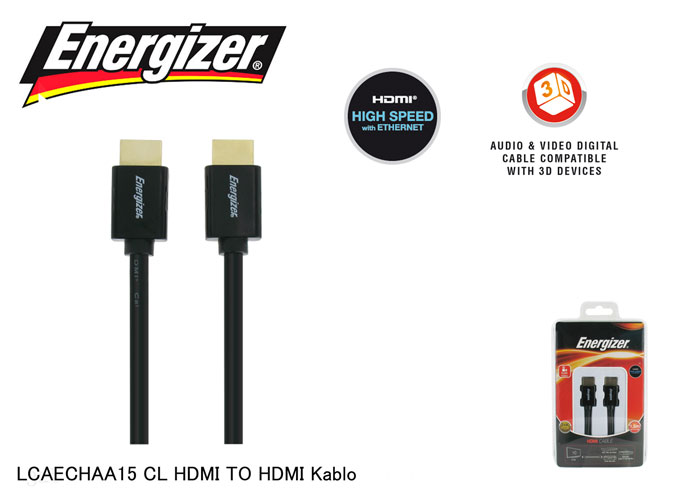 Energizer LCAECHAA15 CL HDMI TO HDMI 1.5m Kablo