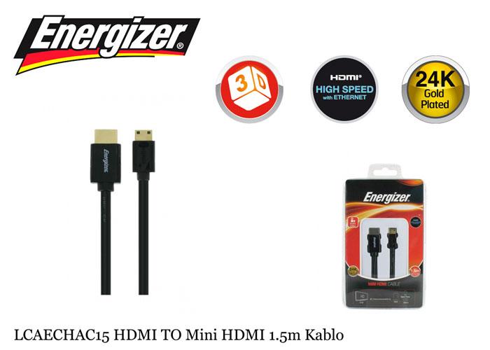 Energizer LCAECHAC15 HDMI TO Mini HDMI 1.5m Kablo