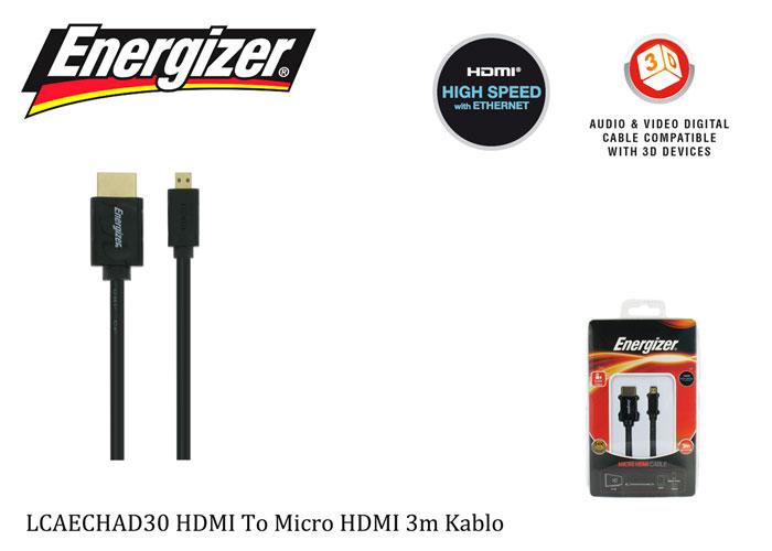 Energizer LCAECHAD30 HDMI To Micro HDMI 3m Kablo
