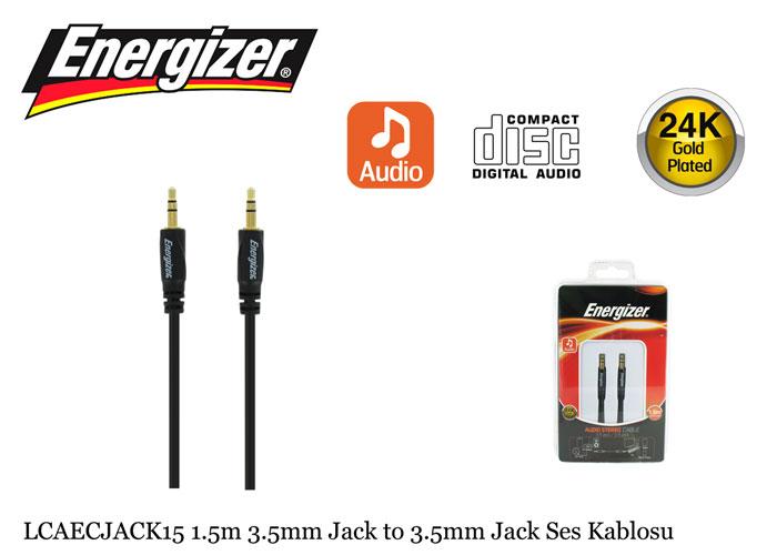 Energizer LCAECJACK15 1.5m 3.5mm Jack to 3.5mm Jack Ses Kablosu