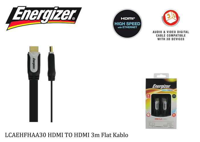 Energizer LCAEHFHAA30 HDMI TO HDMI 3m Flat Kablo