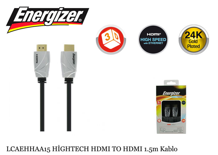 Energizer LCAEHHAA15 HİGHTECH HDMI TO HDMI 1.5m Kablo