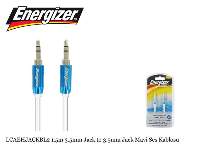 Energizer LCAEHJACKBL2 1.5m 3.5mm Jack to 3.5mm Jack Mavi Ses Kablosu