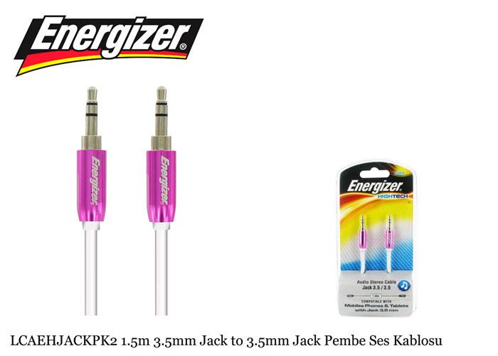 Energizer LCAEHJACKPK2 1.5m 3.5mm Jack to 3.5mm Jack Pembe Ses Kablosu