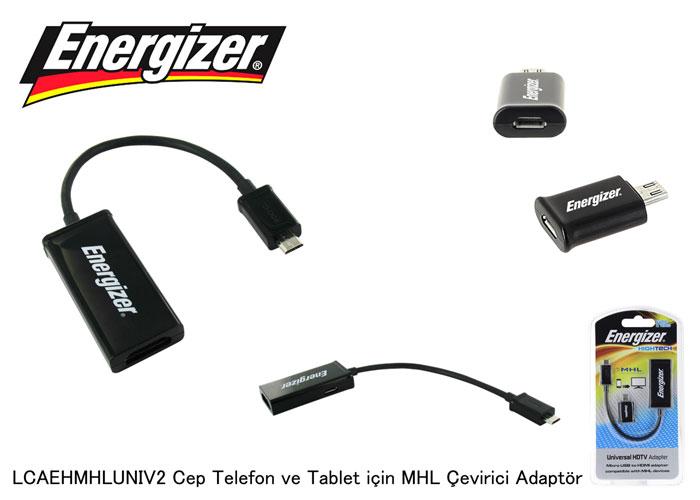 Energizer LCAEHMHLUNIV2 Cep Telefon ve Tablet için MHL Çevirici Adaptör