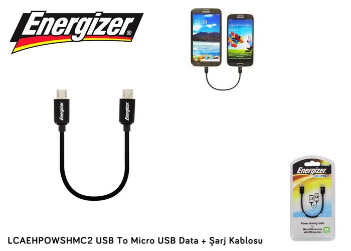 Energizer LCAEHPOWSHMC2 USB To Micro USB Data + Şarj Kablosu