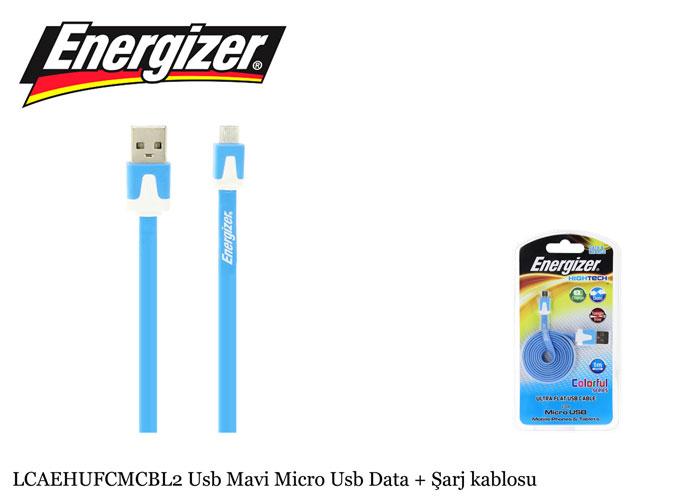Energizer LCAEHUFCMCBL2 Usb Mavi Micro Usb Data + Şarj kablosu