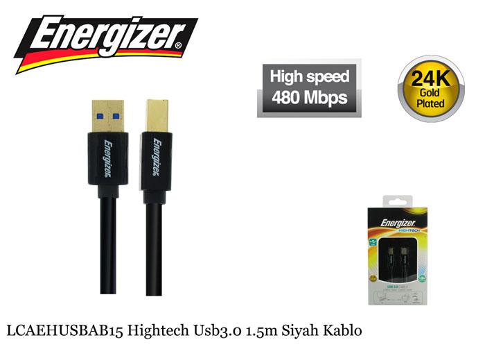 Energizer LCAEHUSBAB15 Hightech Usb3.0 1.5m Siyah Kablo