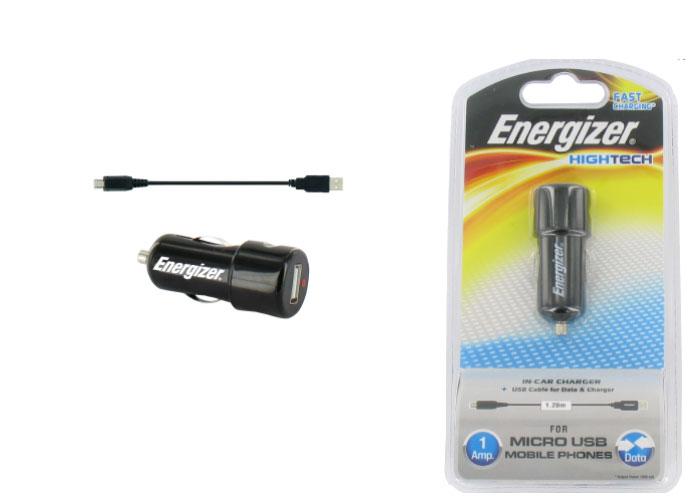 Energizer LCHEHC1UMC2 Akıllı Telefonlar için 1000MA Micro Usb Araç Şarj Kiti