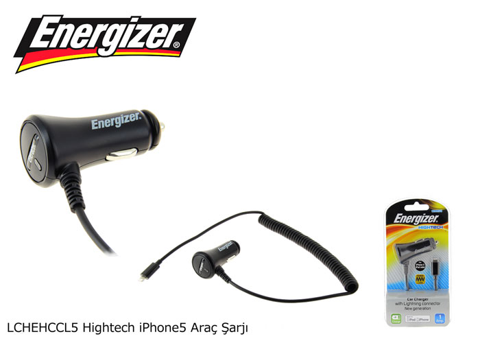 Energizer LCHEHCCL5 Hightech iPhone 5 1000MA Araç Şarjı
