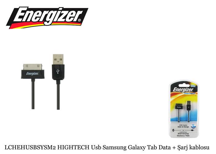 Energizer LCHEHUSBSYSM2 HIGHTECH Usb Samsung Galaxy Tab Data + Şarj kablosu