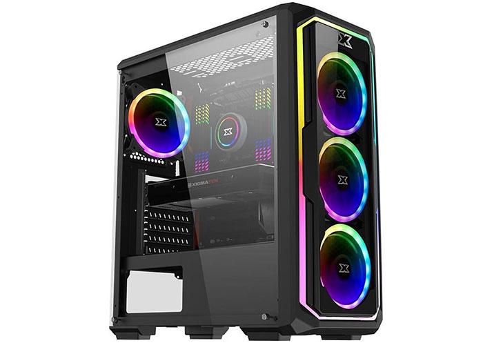 Xigmatek EN43781 LECO PLUS 4*12cm Fanlı X-Power 650W Mesh Panel  Tempered Camlı Gaming Oyuncu Kasası