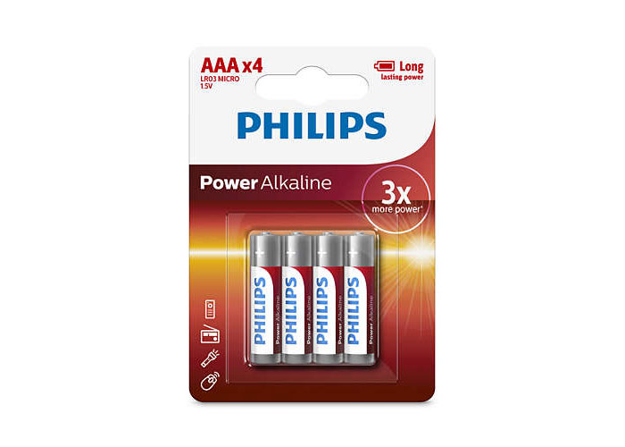 Philips LR03P4B/97 AAA 4LÜ İnce Alkaline Pil