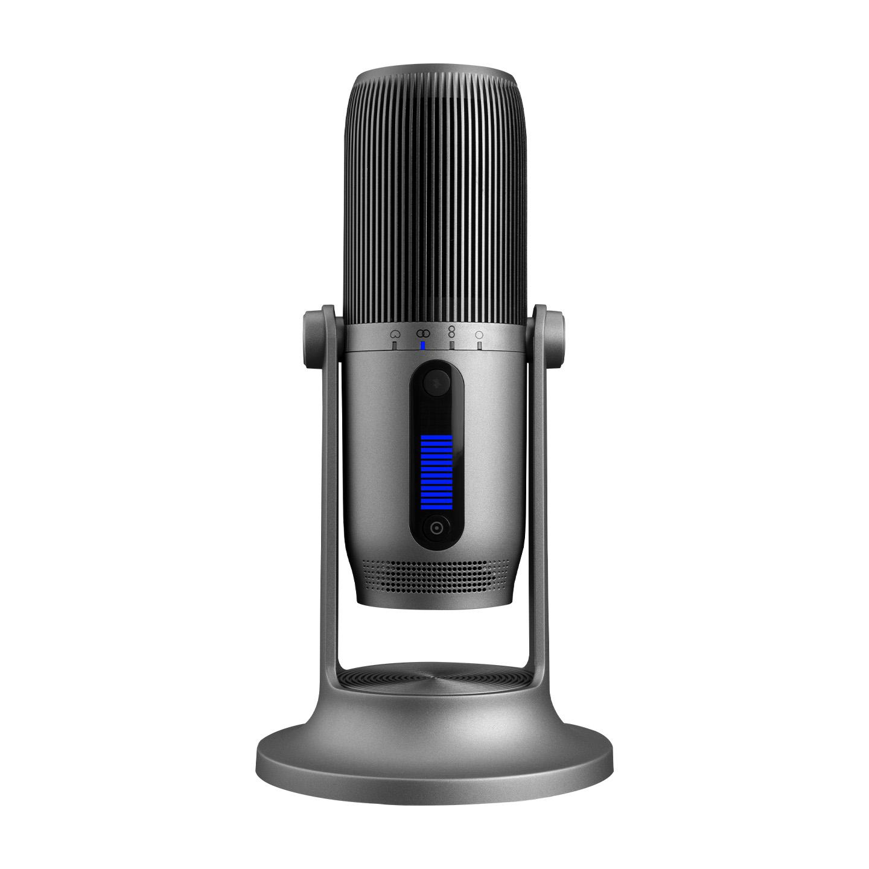 Thronmax M2P-G MDRILL ONE PRO Gri USB 96Khz 24bit HD Kayıt RGB Ledli 3,5mm Ses Ekran Type-C Mikrofon