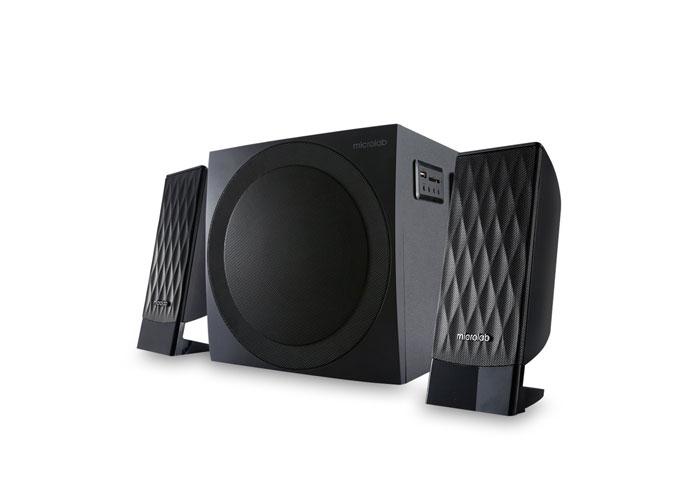 Microlab M300U 2 + 1 Black Usb + SD + Fm Supported Speaker