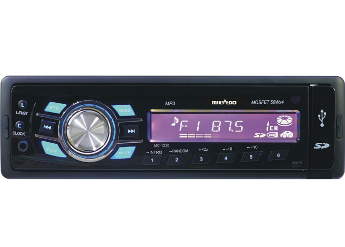 Mikado MC-1230 MP3 Oynatıcı + FM Radyo + Kafa Çıkmalı Uz.Kum. Oto Teyp