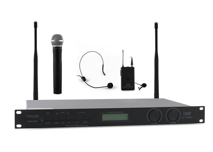 Mikado MCW-820B Black 16X2 Channel Wireless Conference  Microphone Set