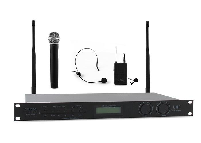 Mikado MCW-820B Siyah 16X2 Kanal Kablosuz Konferans Set Mikrofon