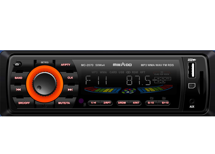 Mikado MC-2070 MP3 Oynatıcı + FM Radyo + Kafa Çıkmalı Uz.Kum. Oto Teyp